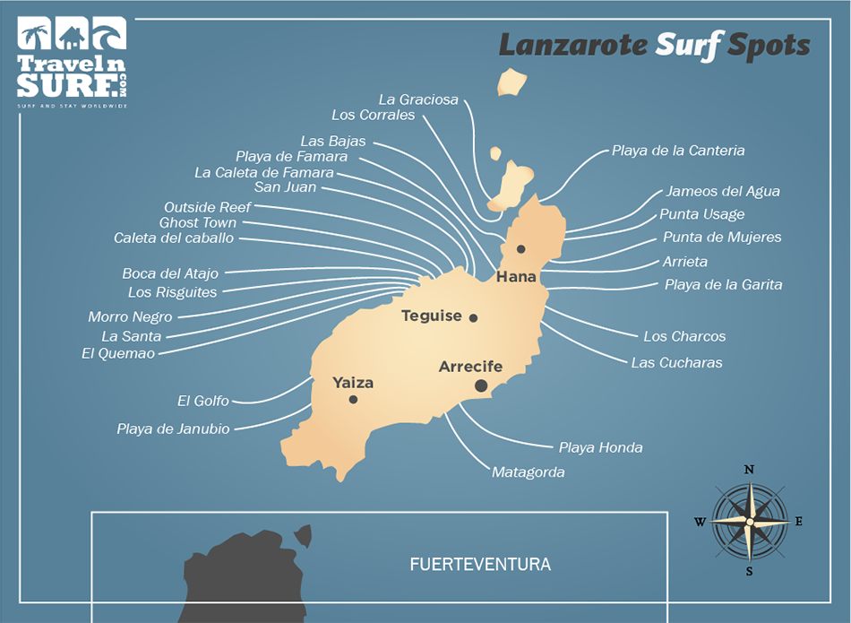 Canary Islands Surf Map