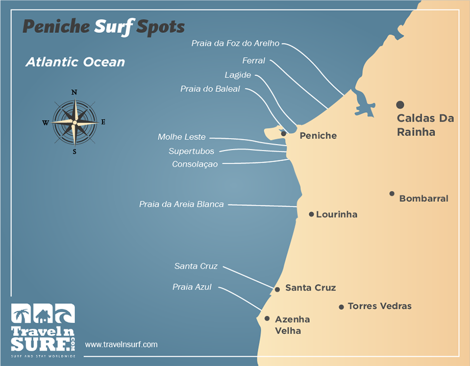 Travelnsurf Com Surfing In Supertubos Peniche Portugal